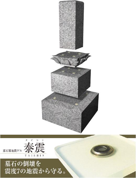 墓石用地震ゲル「泰震」