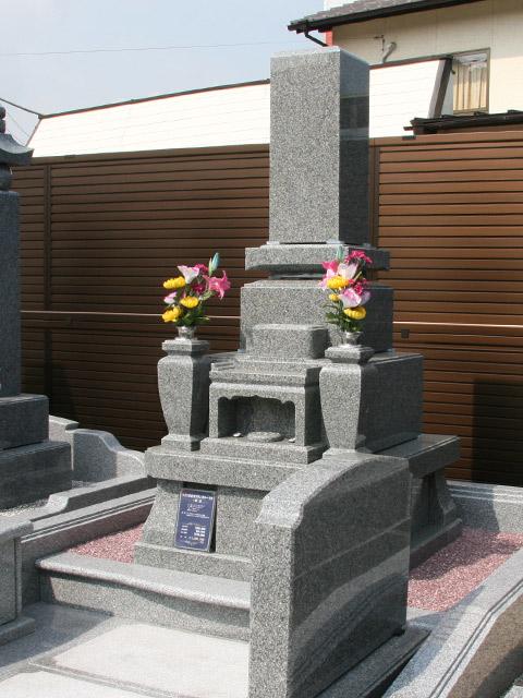 9寸2重台角フトンカロート型・墓誌