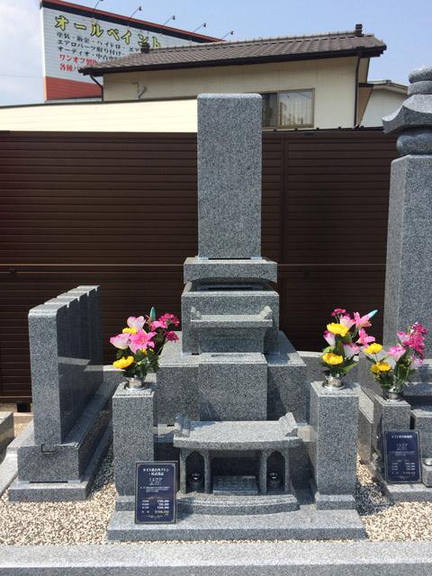 9寸3重台角フトン・柱式墓誌